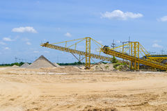 Sand mining Royalty Free Stock Photo