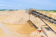 Sand mining Royalty Free Stock Images