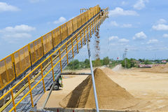 Sand mining Royalty Free Stock Image