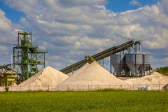 Sand mining station Stock Images