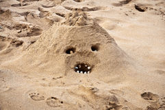 Sand monster Royalty Free Stock Photo