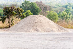 Sand mound Stock Photos