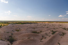 Sand mound. From the quarry, artificial desert Stock Images