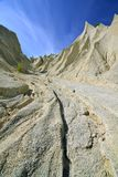 Sand mounds. Picturesque landscape of artificial sand mounds Stock Photography
