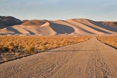 Sand Mountain, Nevada. Sand Mountain, a sand dune near Highway 50 near Fallon Nevada stock image