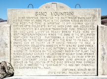 Sand Mountain, Nevada Stock Images