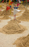 Sand mountain in tample Royalty Free Stock Image