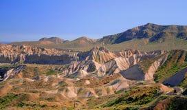 Sand mountains. Landscape of sand mountains near the town of santa rosalia, baja california sur, mexico Royalty Free Stock Photography