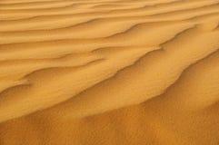 Sand-Muster in der Wüste von UAE Lizenzfreies Stockfoto