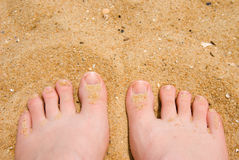 Sand between my toes Stock Photos