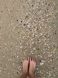 Sand in my toes! Royalty Free Stock Images