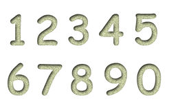 Sand numbers isolated on a white  Royalty Free Stock Images