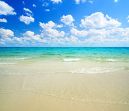 Sand and ocean royalty free stock image