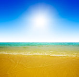 Sand and ocean Royalty Free Stock Images