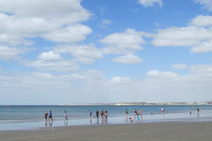Sand ocean beach in the north Stock Image