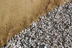 Sand och bruten stendiagonalbakgrund Royaltyfri Fotografi
