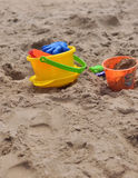 Sand och hinkar Royaltyfri Bild