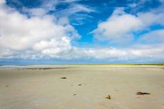 Sand och oklarheter Cata sand, Sanday, Orkney, Skottland Arkivbild