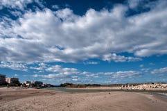 Sand och sky Arkivfoton