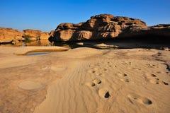 Sand- och stenöken Arkivfoton