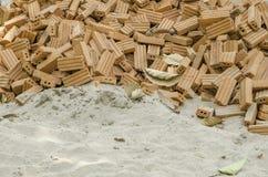 Sand och tegelsten Arkivbilder