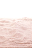 Sand over white background Royalty Free Stock Image