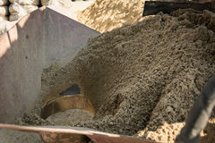 Sand packing equipment Royalty Free Stock Images