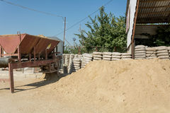 Sand packing equipment Royalty Free Stock Photography