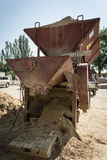 Sand packing equipment Stock Images