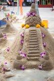 Sand pagoda ceremony, Cultural activities including sand sculptu Royalty Free Stock Photos