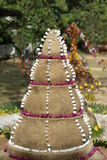 Sand pagoda. In Loy Krathong festival,Northern Thailand Royalty Free Stock Images
