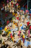 Sand Pagoda for return the sand to the temple in tradition Songkran festival. Sand Pagoda for return the sand to the temple in tradition Songkran Festival or stock photo