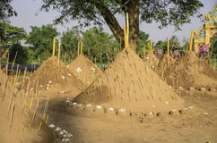 Sand of pagoda. In temple Royalty Free Stock Photography