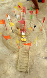 Sand pagoda of thailand. Sand pagoda in Thailand made during Songkran day, for merit Stock Photography