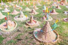 Sand pagoda in Thailand Songkran Festival. Sand pagoda that thai people has build by faith in Thailand Songkran Festival royalty free stock photo