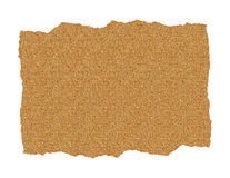 Sand Paper Ripped. Piece of ripped sand paper on white vector illustration
