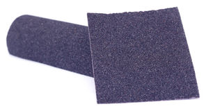 Sand paper roll and sheet Stock Photo