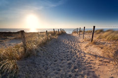 Sand path to North sea beach Royalty Free Stock Photography