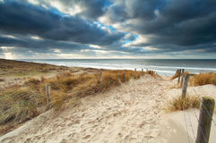 Free Sand Path With Fence To North Sea Beach Royalty Free Stock Photos - 75685898