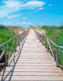 Sand and path Royalty Free Stock Image