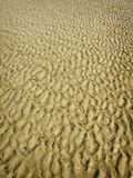 Sand Pattern. On the Beach from the Waves stock photos