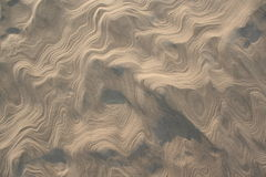 Sand pattern. Patterns in the sand made by the wind Royalty Free Stock Image
