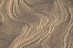 Sand pattern. Wind and sand pattern Royalty Free Stock Photography