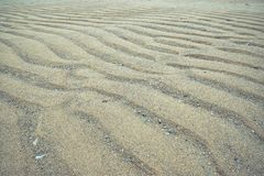 Sand pattern at a beach in Benodet royalty free stock photos