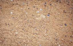 Sand pattern of a beach Royalty Free Stock Images