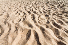 Sand pattern of a beach Royalty Free Stock Photography