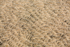 Sand pattern of a beach in the summer Royalty Free Stock Photography