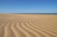 Sand Pattern. Beautiful patterns made in the sand by the outgoing tide at Race Beach on Cape Cod stock photography