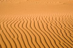 Sand pattern, riffles in desert sand. royalty free stock photo