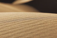 Sand pattern in the Sahara desert of Morocco. Stock Photography